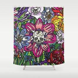 """""""Skull Garden III"""" by Schmiedlin 2013 Shower Curtain"""