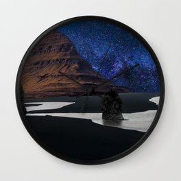 Majestic Iceland of all of the best qualities of Iceland Wall Clock