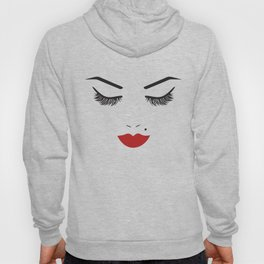 Beauty Face with Red Lips Hoody