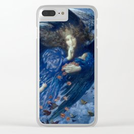 """Edward Robert Hughes (1912) """"Night with her train of stars"""" Clear iPhone Case"""