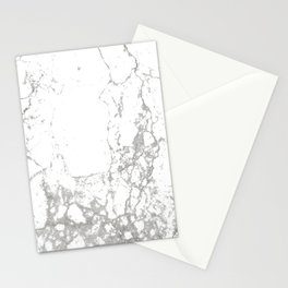 Gray white abstract modern marble pattern Stationery Cards