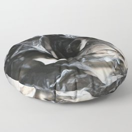 black plastic 01 Floor Pillow
