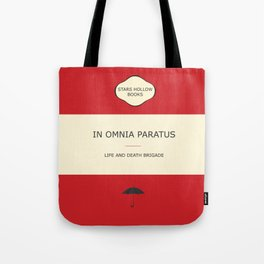 In omnia paratus- the book Tote Bag