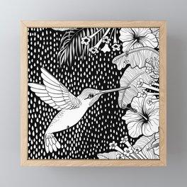 Hummingbird garden Framed Mini Art Print