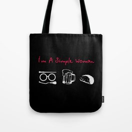 im a simple women Tote Bag