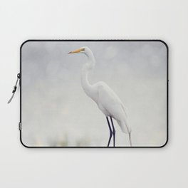 Great Egret perched in Florida wetlands Laptop Sleeve