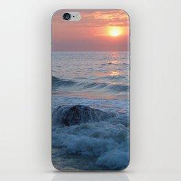 Water on the Rocks at Sunset Varkala iPhone Skin