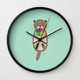 Sweet Otter Wall Clock