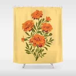 Marigold Flowers Shower Curtain