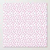 Dots Pink Canvas Print