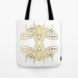 Death's Head Hawkmoth – Gold Palette Tote Bag