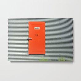 Door 14 Metal Print