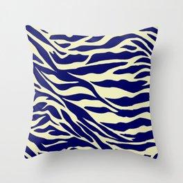blue zebra Throw Pillow