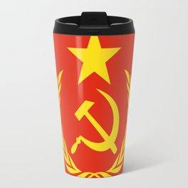 Russian Communist Flag Hammer & Sickle Travel Mug