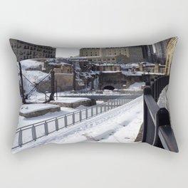 Minneapolis, Minnesota Skyline Stone Arch Bridge Rectangular Pillow