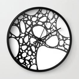 Grey Bubbles Wall Clock