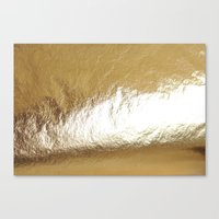 gold foil Canvas Prints featuring Gold Foil by The Wellington Boot
