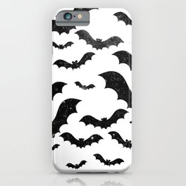 Night sky bats - Halloween iPhone Case
