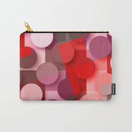 dots & squares red Carry-All Pouch
