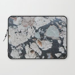 Stone Pattern Black and Tan Laptop Sleeve