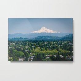 Mount Hood from Mount Tabor Metal Print