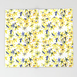 Blue Eyed Susan Throw Blanket