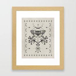 Magical Moth Framed Art Print