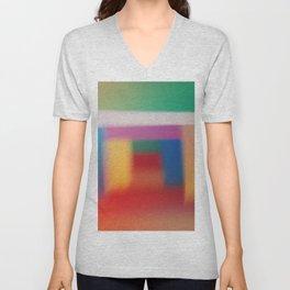 Colored blur background 3 Unisex V-Neck