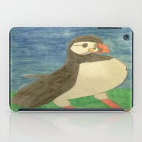 puffin iPad Cases featuring Puffin by Danielle Gensler