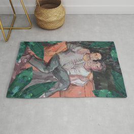 gay couple forest Rug