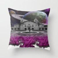 lebron Throw Pillows featuring Destroy & Rebuild by SaintCastro