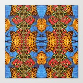 Sacred butterfly geometry Canvas Print