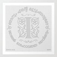 Joshua 24:15 - (Letterpress) Monogram I Art Print