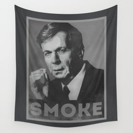 Smoke! Funny Obama Hope Parody (Smoking Man)  Wall Tapestry