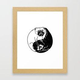 The Tao of English Bulldog Framed Art Print