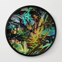 jungle Wall Clocks featuring jungle by clemm