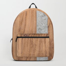 Wood Grain Stripes Concrete #347 Backpack