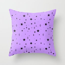 Space Pattern (purple/black) Throw Pillow