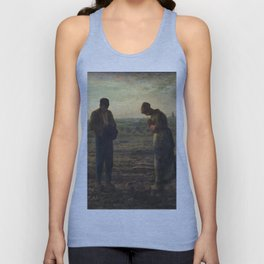 The Angelus by Jean Francois Millet Unisex Tank Top