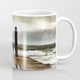 The girl in the storm, Cascais (Portugal) Coffee Mug