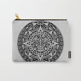 Mayan Calendar // Light Grey Carry-All Pouch