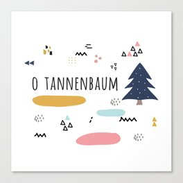 Minimal Holiday Designs :: O Tannenbaum Canvas Print
