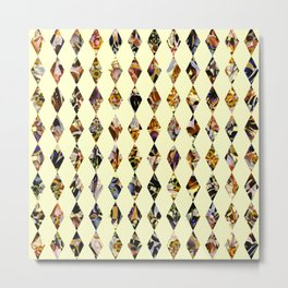 luminous diamond shaped garland Metal Print