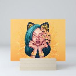 Puzzle Cat Girl Mini Art Print