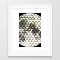 lunar Framed Art Prints featuring Lunar. by Tyler Rice
