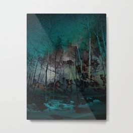 Hazy Blue Spirit Night Metal Print