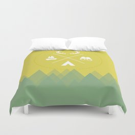 Let's Camp Out Duvet Cover