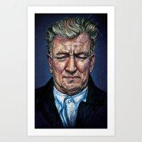 Change Begins Within - David Lynch Portrait Art Print