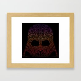Darth Neon Trooper Framed Art Print