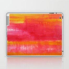 'Summer Day'  Orange Red Yellow Abstract Art Laptop & iPad Skin